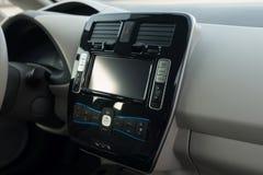 Modern car dashboard. royalty free stock photos
