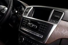 Modern car dashboard. stock photography