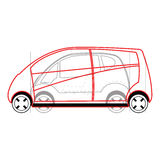 Modern car design Royalty Free Stock Photo