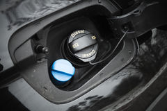 Modern car details, closed fuel cap Stock Images
