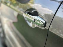 Modern Car door handle stock photography