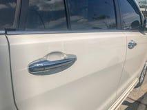 Modern car door handle stock image