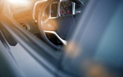 Modern Car Driving Stock Photo