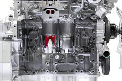 Modern car engine cross section. S Royalty Free Stock Image
