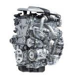 Modern car engine isolated on white background. S Royalty Free Stock Image