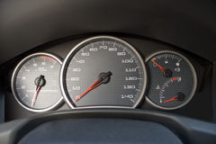 Modern Car Gauge Cluster Royalty Free Stock Image