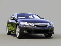 Modern car on a gray Royalty Free Stock Photography