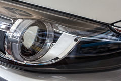 Modern car head lamp Royalty Free Stock Image
