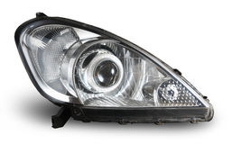 Modern car headlamp isolated Royalty Free Stock Photo