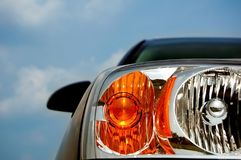 Modern Car Headlight Stock Photo