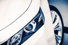 Modern Car Headlight Stock Photography