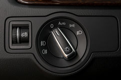 Modern car headlight controls. Stock Photography