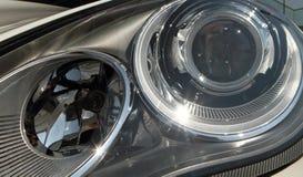 Modern car headlights Stock Image