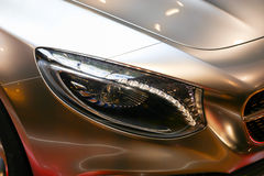 Modern Car Headlights Stock Images