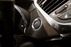 Modern Car Ignition Button Royalty Free Stock Photo