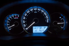 Modern car instrument dashboard panel Stock Photography