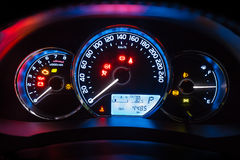Modern car instrument dashboard panel Stock Images