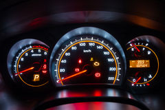 Modern car instrument dashboard panel Royalty Free Stock Photos