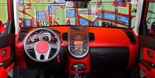 Modern car interior Stock Images