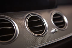Modern car interior. air conditioning hole Royalty Free Stock Images
