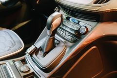 Modern Car Interior Dashboard View Stock Photos