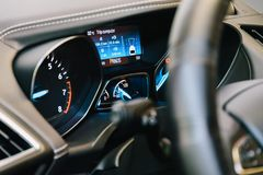 Modern Car Interior Dashboard View Royalty Free Stock Images