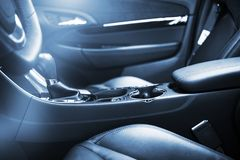 Modern Car Interior Design Stock Photography