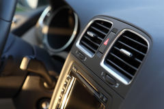 Modern car interior detail Stock Photos