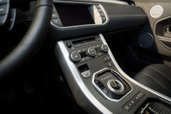 Modern car interior detail Royalty Free Stock Photos