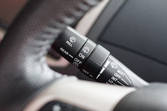 Modern car interior detail Wipers control Stock Photos