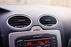 Modern car interior details closeup. Stock Photos