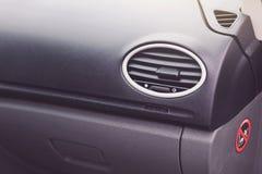 Modern car interior details closeup. Gray seats Stock Image