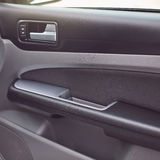 Modern car interior details closeup. Gray seats Royalty Free Stock Photography