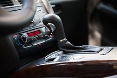 Modern car interior, gearstick Stock Photo