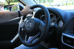 Modern car interior Stock Photos