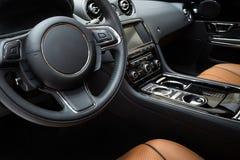 Modern car interior Stock Photos