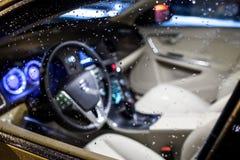 Modern car interior Stock Photo