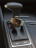 Modern car interior with smart watch Stock Photography