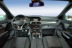 Modern car interior Stock Images