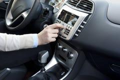 Modern car interior trim Royalty Free Stock Images