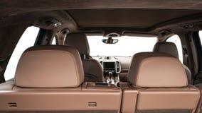 Modern sport car interior. Royalty Free Stock Photo