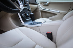 Modern car interior Royalty Free Stock Photo