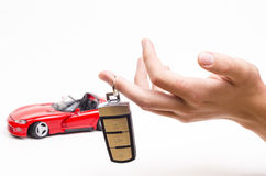 Modern car key Royalty Free Stock Photo