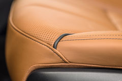 Modern car leather background. Royalty Free Stock Photography