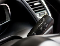 Modern car light control paddle Royalty Free Stock Image