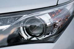 Car Light Closeup - LED and Xenon royalty free stock photography