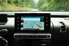 Modern car navigation Royalty Free Stock Image