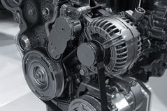 Modern Car Power Engine Details Royalty Free Stock Photography