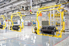Modern car production line Royalty Free Stock Image