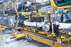 Modern car production line Stock Photography